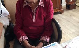 Een oudere patiënt