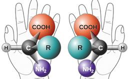 Links- en rechtshandige vorm aminozuur alanine