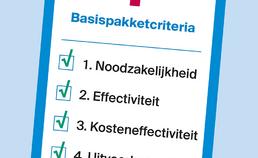 criteria voor zorg in basispakket