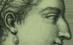 Profiel van Cleopatra uit 1736