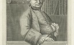 Portret van 18e eeuwse tandmeester Lehman Joseph