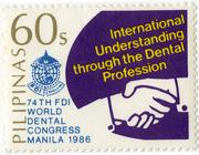 Tandheelkunde zet een stempel op postzegels 4. Congres en jubileum